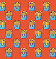 french fries background vector image vector image