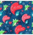graphic pattern with frog lovers vector image vector image