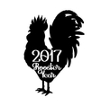 Graphic rooster silhouette vector image