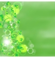green leaves on watercolor background vector image vector image