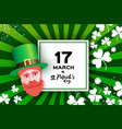 happy st patricks day greeting card in paper cut vector image vector image