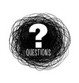 help and support question mark scribble style vector image