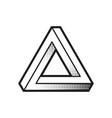 impossible shape optical web design element line vector image vector image