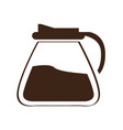 isolated coffee pot silhouette vector image