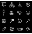 line toys icon set vector image vector image