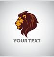 lion logo mascot template vector image vector image