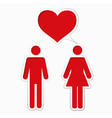 Male loving with female vector image