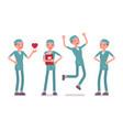 male nurse in positive emotions vector image vector image
