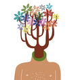 man with tree in head vector image