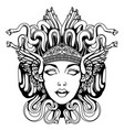 medusa gorgon portrait vector image vector image