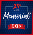 memorial day greeting card blue star vector image vector image