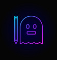 modern ghost with pencil icon vector image