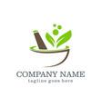mortar organic logo design vector image vector image
