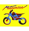 Motorcycle sport vector image vector image