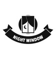 night window logo simple black style vector image