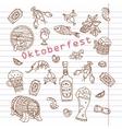 Oktoberfest Set symbols vector image