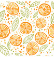 orange colorful seamless pattern vector image