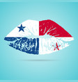 panama flag lipstick on the lips isolated on a vector image vector image