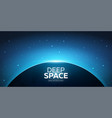 planet earth and sunrice in space starry sky vector image vector image