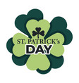 saint patrick isolated icon clover irish vector image vector image