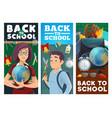 school education teacher and pupil vector image