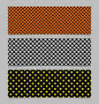 seamless heart pattern banner background design vector image vector image