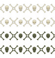 seamless horizontal patterns with skull and bones vector image