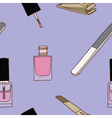 Seamless of nail care and polish vector image vector image
