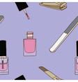 Seamless of nail care and polish vector image