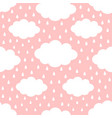 seamless pattern cloud in sky rain drop cute vector image
