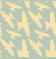 seamless pattern white birds in a blue sky retro vector image vector image