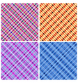 Set of 4 seamless pinstripe pattern vector image vector image