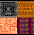 set of seamless background ethnic hand drawn vector image vector image