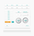 set web elements site navigation menu button vector image
