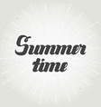 Summer time hand lettering Handmade calligraphy vector image