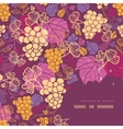 Sweet grape vines corner frame pattern background vector image vector image