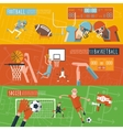 Team sport horizontal banners set vector image vector image