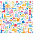 travel icons seamless texture vector image