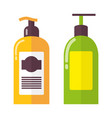 two bright colorful bottles vector image vector image