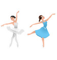 two young ballerinas vector image vector image
