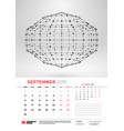 wall calendar template for september 2019 with vector image vector image