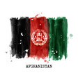 watercolor painting flag of afghanistan vector image vector image