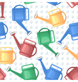 watering can pattern vector image vector image