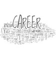 where is your career headed text word cloud vector image vector image