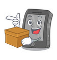 with box ipad isolated with in character vector image