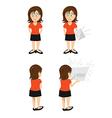 woman brunette paper vector image vector image