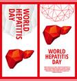 world hepatitis day flyer template vector image vector image