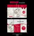 Christmas trifold brochure template Abstract flyer vector image