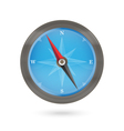 Compass icon blue and brown on a white vector image