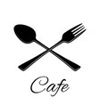 spoon and fork icon in flat vector image